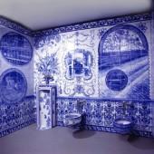 Men's washroom full view, John Michael Kohler Arts Center, Sheboygan, WI, 1999