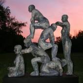 Lansing, MI Sculpture Walk, destroyed by vandals