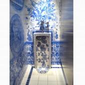 Men's Room (detail), Urinal with Squirt Gun Bouquet, 1999, John Michael Kohler Arts Center, Sheboygan,WI