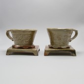 American Museum of Ceramic Art, AMOCA, 2004.2.84. ab and 2.85.ab,gift of American Ceramic Society